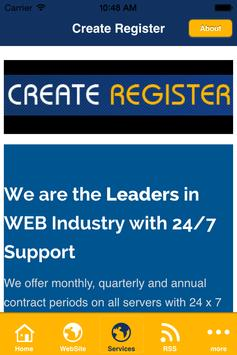 Create Register screenshot 2