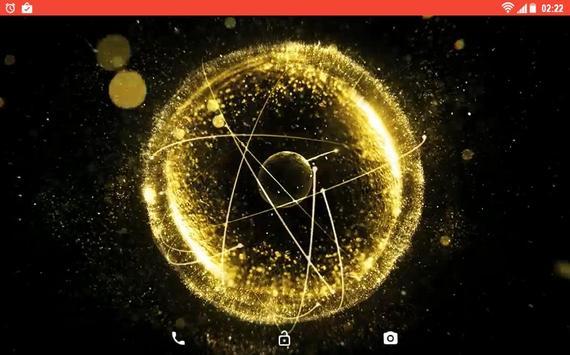 Gold 3D Explosion Live WP screenshot 5