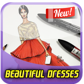 Learn to Draw Beautiful Dresses icon
