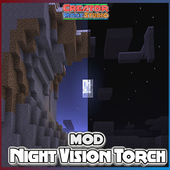Night Vision Torch MOD for MCPE icon