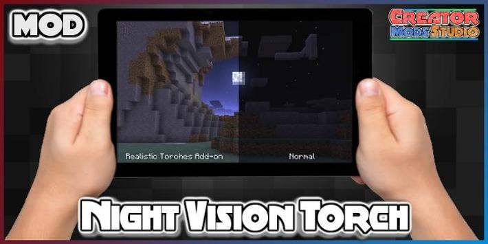 Night Vision Torch MOD for MCPE screenshot 1