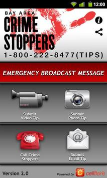 Bay Area Crime Stoppers poster