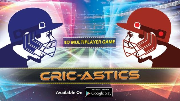 CricAstics 3D Multiplayer Cricket Game poster