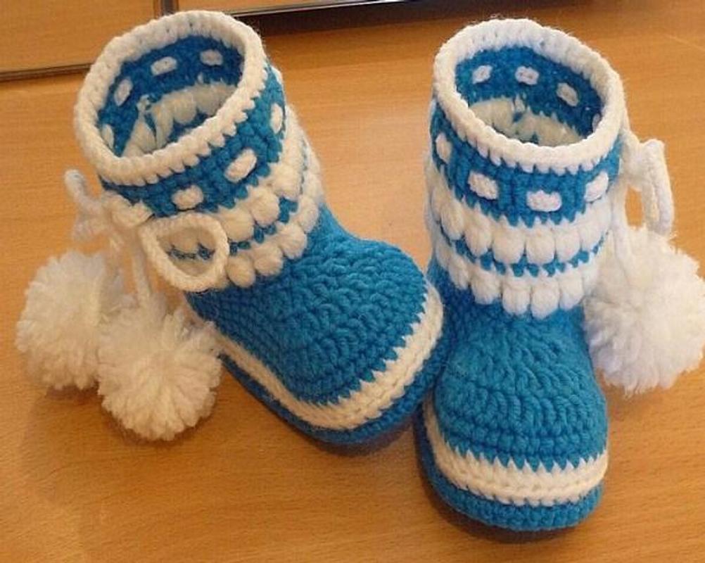 häkeln Baby Schuhe für Android - APK herunterladen