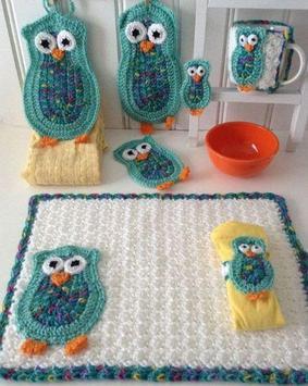 Crochet Kitchen Set Decoration poster