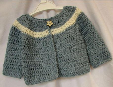 Crochet Pattern Baby Cardigan apk screenshot