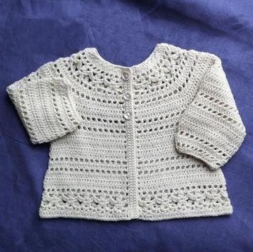 Crochet Pattern Baby Cardigan poster