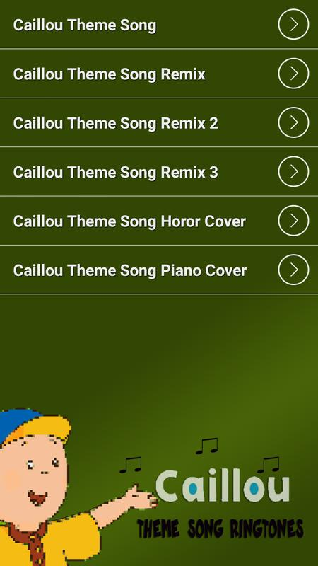 Caillou theme song remix download