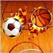 Mascot Dunks basket icon