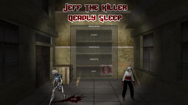 Jeff The Killer: Deadly Sleep poster