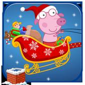 Peeka Pig Xmas Holiday Gifts icon