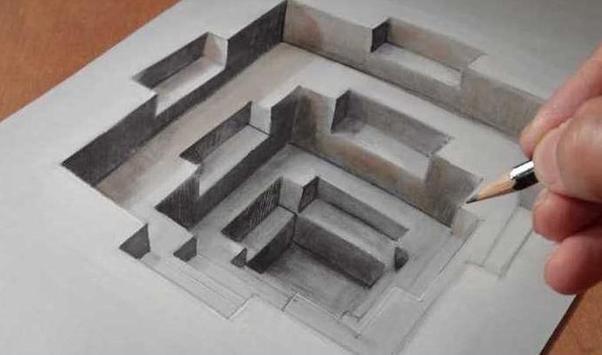DIY 3D Drawing poster
