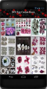 DIY Egg Carton Roses poster