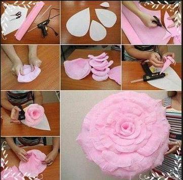 DIY Paper Flower Craft screenshot 1