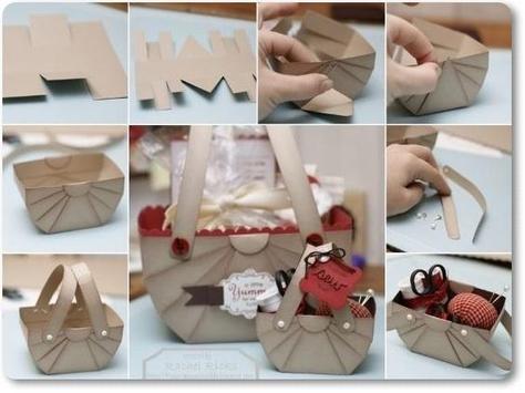 DIY Paper Origami Gift Box Lid Instructions screenshot 1