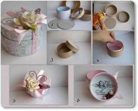 DIY Paper Origami Gift Box Lid Instructions screenshot 2