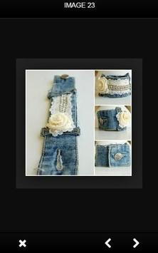 DIY Recycle Jeans poster