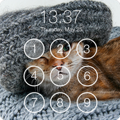 Cute Kitty Cat Pattern Lock Screen PIN Wallpapers icon