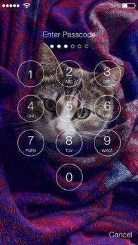 Cute Kitty Cat Pattern Lock Screen PIN Wallpapers poster