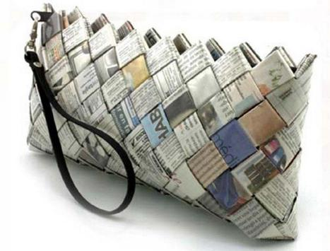 newspaper recycle home craft ideas screenshot 25