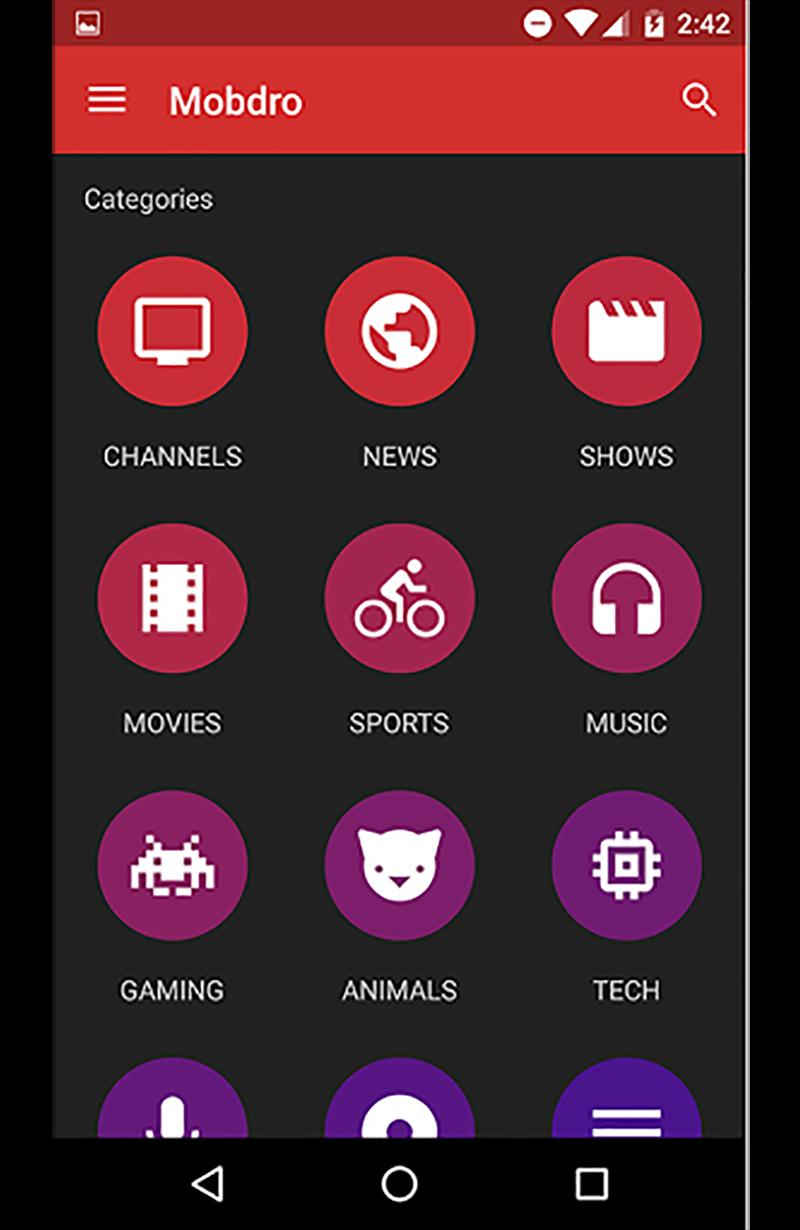 Mobdre TV for Android - APK Download
