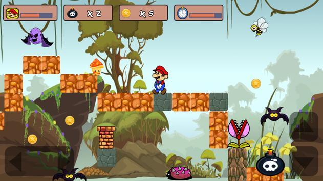 Classic Mario Jungle World poster
