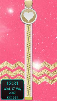 Glitter Zipper Lock Screen apk screenshot