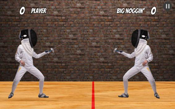 Big Headed Fencing poster