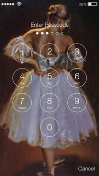 Ballet ART PIN Screen Lock screenshot 1