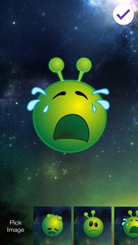 Green Alien Emoji Lock Screen apk screenshot