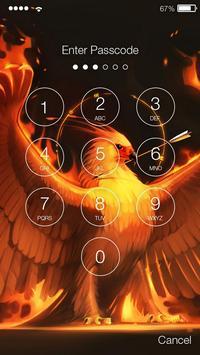 Phoenix Bird Screen Lock screenshot 1