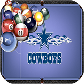 Billiards Dallas Cowboys theme icon