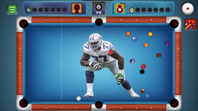 Billiards Dallas Cowboys theme poster