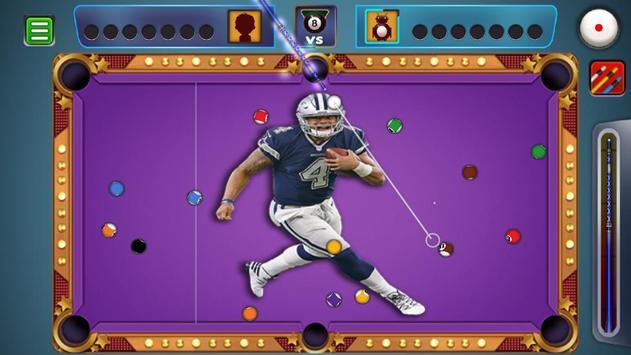 Billiards Dallas Cowboys theme screenshot 4