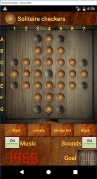 Solitaire checkers screenshot 1