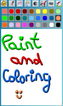 Paint and Coloring poster