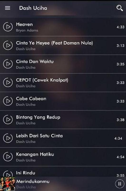 free download mp3 dash uciha merindukanmu
