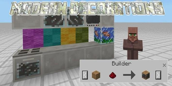 Modern Decorations Mod for McPE screenshot 1