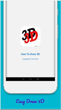 How to Draw 3D poster