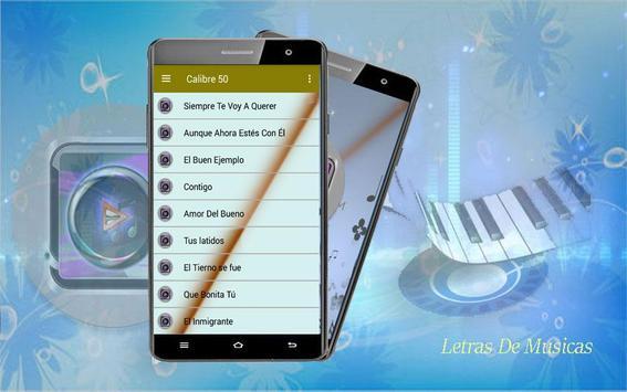 Calibre 50 Letra apk screenshot