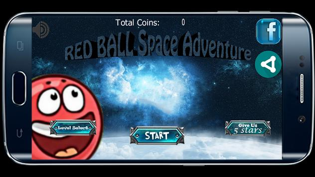 Red Ball Space Adventure poster