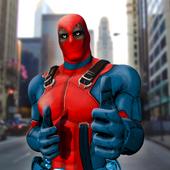 Dead boolean Superhero 3D icon