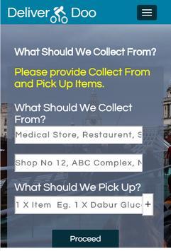 DeliverDoo:Deliver What U Need apk screenshot