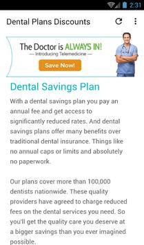 Dental Plans Discount screenshot 1