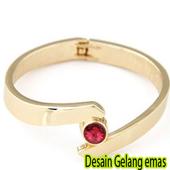Design gold bracelet icon