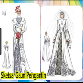 Design Sketch of Bridal Gown icon