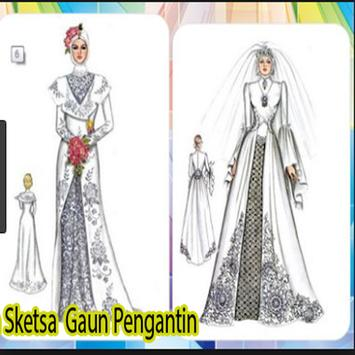 Design Sketch of Bridal Gown poster