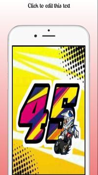 design render number sticker poster