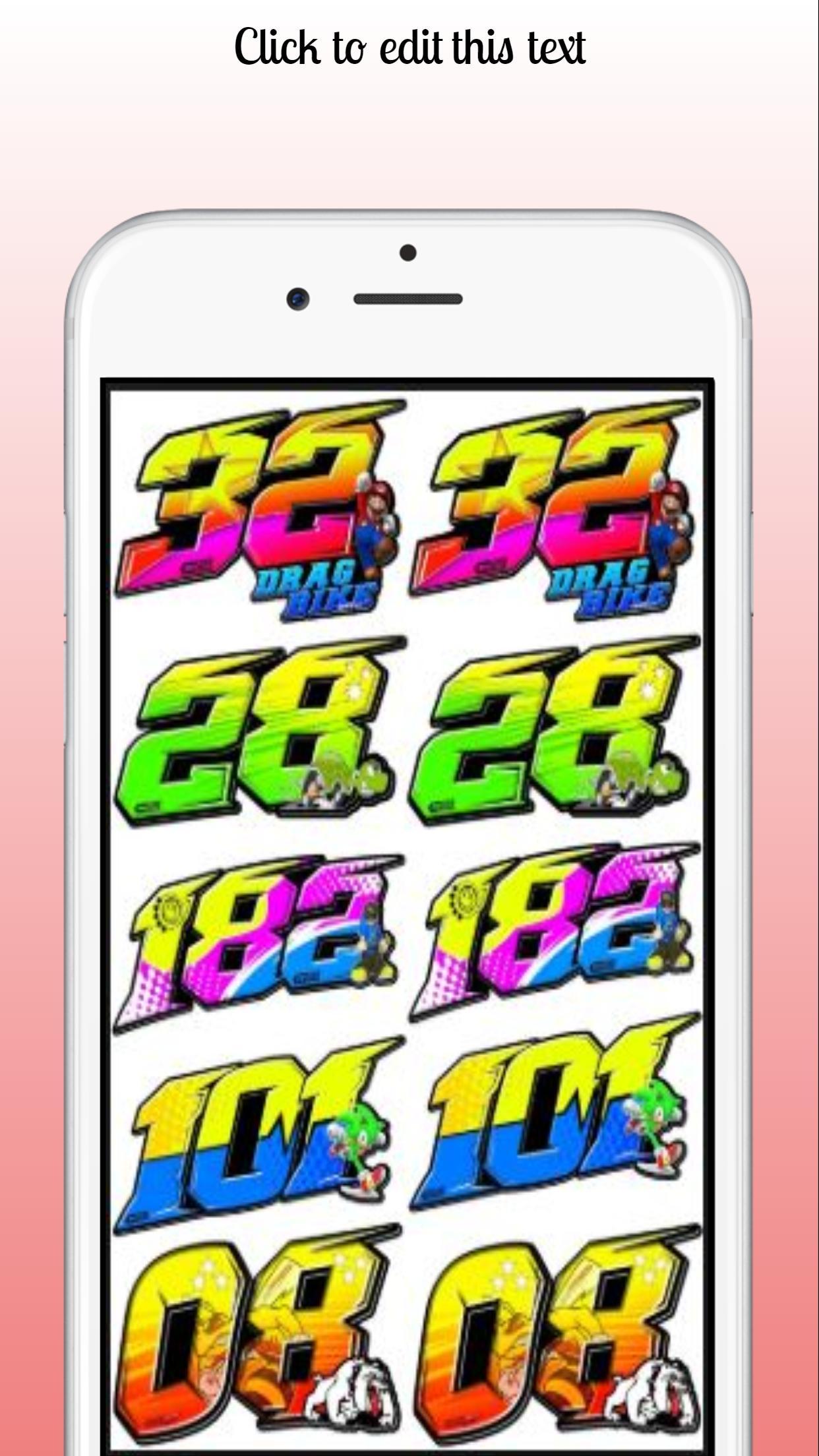 Desain stiker nomor racing screenshot 3