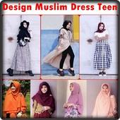 Design Muslim Dress Teen icon